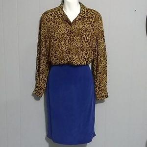 CHAUS 100 % Silk Skirt       Size 6
